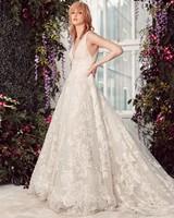 wide spaghetti strap deep v-neck lace a-line wedding dress Rivini by Rita Vinieris Spring 2020