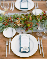 rustic wedding centerpieces garland farm table setting
