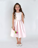 pink flower girl dress