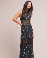 ML Monique Lhuillier Black Sleeveless Mother of the Bride Gown