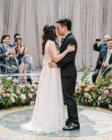 stephanie tim wedding ceremony kiss