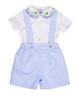 Florence Eiseman Boys Suspender Shorts and Shirt