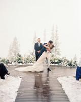 taylor cameron wedding ceremony kiss