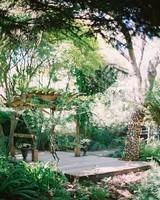 outdoor garden ceremony space