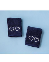 navy blue Makeup Towels
