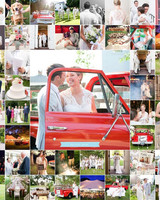 wedding album alternatives blog wall collage