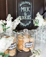 milk and cookies sign almond crunch cookies in glass jar