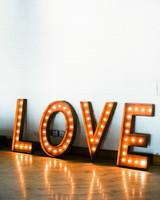 """""""love"""" marquee signage"""