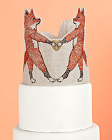 woodland animals coral and tusk cake topper