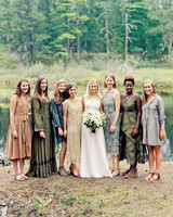 adele seth wedding michigan bridesmaids