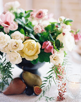 afton travers wedding centerpiece