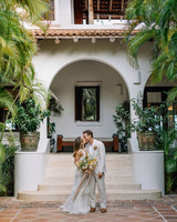ariel trevor wedding tulum mexico couple kiss