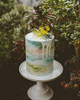 art-inspired wedding ideas watercolor wedding cake