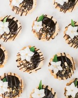 boho chic bachelorette chocolate tarts