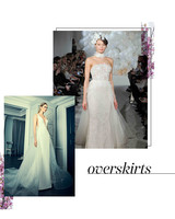 Bridal Fashion Week Trends Overskirts
