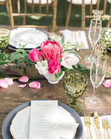 bridal shower centerpiece with protea