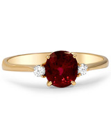Brilliant Earth The Jaleesa Ruby Engagement Ring with Round Side Stones