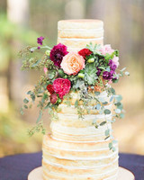 cakes with floral tiers succulents roses naked