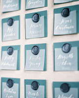 charla jesse wedding escort cards detail