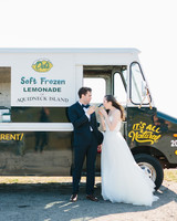 Del's truck at wedding