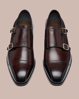"""Tom Ford Burnished """"Elkan"""" Double Monk Strap Shoes"""