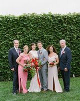 colleen stephen newport wedding couple with their parents