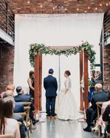 indoor chuppah & 51 Beautiful Chuppahs from Jewish Weddings | Martha Stewart Weddings
