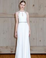 david's bridal belted sheath wedding dress spring 2018