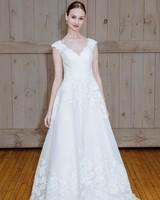 david's bridal embellished strap wedding dress spring 2018