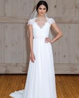 david's bridal cap sleeve veil wedding dress spring 2018