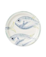 fish design salad plate