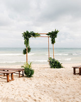 eleanor jacques wedding beach ceremony site