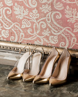 elle raymond venice wedding pairs gold pumps
