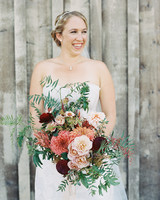 emily siddartha wedding bouquet bride