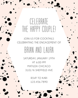 Paper Source Splatter Engagement Party Invitation