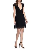 black v-neck dress