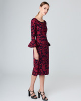 36 beautiful dresses to wear as a wedding guest this fall martha long sleeve red dress junglespirit