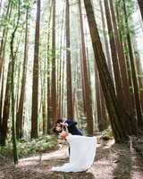 wedding couple dancing woods