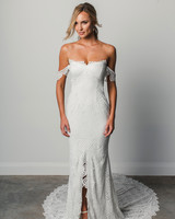grace loves lace strapless off the shoulder  spring 2018 wedding dress