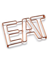 "Martha Stewart Collection Copper ""Eat"" Trivet"