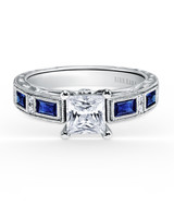 Kirk Kara Princess-Cut Engagement Ring