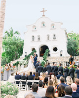 kourtney justin wedding mexico ceremony outdoor church