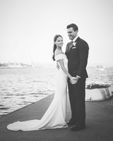 laura john wedding massachusetts couple holding hands