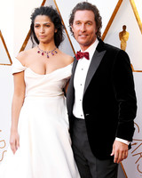 Matthew McConaughey and Camila Alves 2018 Oscars