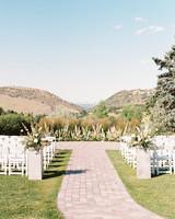 outdoor venue overlooking rocky mountain foothills