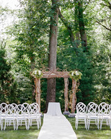 melissa michael outdoor wedding ceremony site