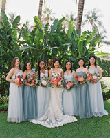 mismatched bridesmaids dresses gianny campos