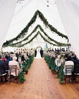 Ceremony Aisle with Overhead Foliage