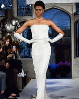 oleg cassini strapless wedding dress spring 2018