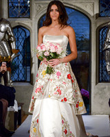 oleg cassini floral overlay wedding dress spring 2018